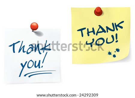 Thank You Notes Set. easy To Edit Vector Image. - stock vector