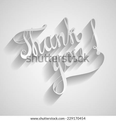 Thank you. paper label - stock vector