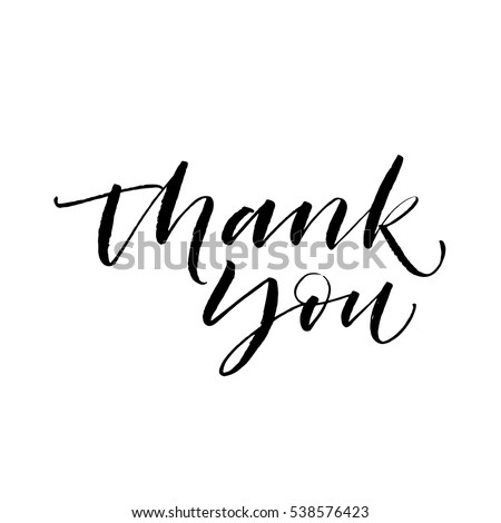 Thank you script stock images royalty free images Thank you in calligraphy writing