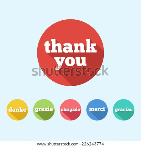 Thank you sign icon. Gratitude symbol. - stock vector