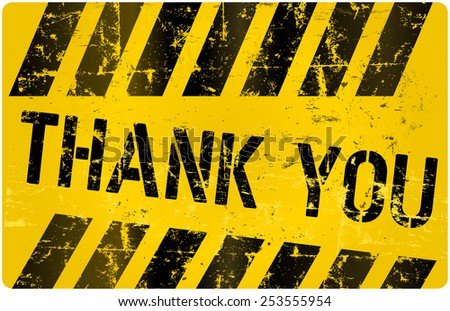 Thank You sign,  vector illustration