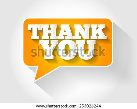 Thank You Speech Bubble concept - stock vector