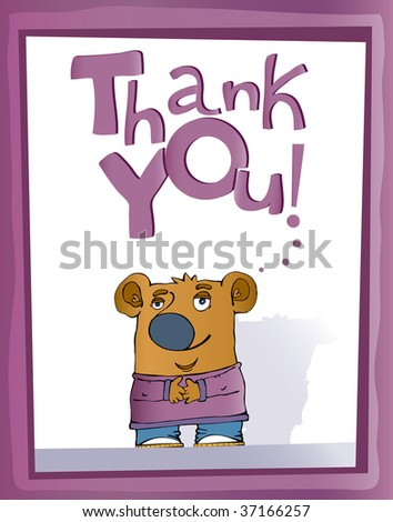 Thank you teddy bear  vektor - stock vector