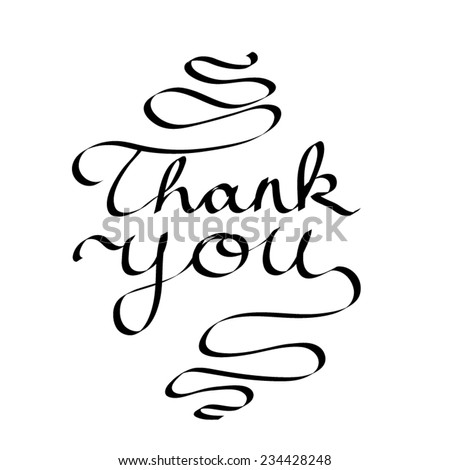 Thank You Vector Calligraphy - stock vector