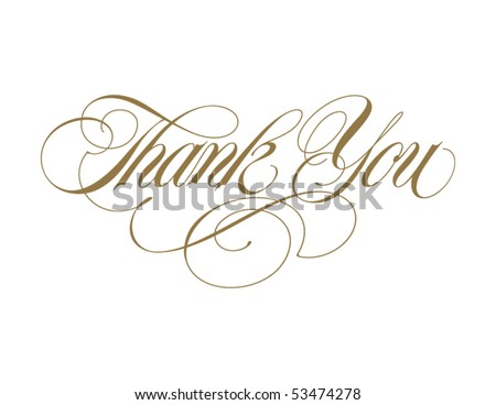 Thank You Vector Lettering - stock vector