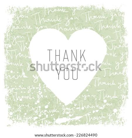 Thank You Vintage Card Design. Vector - stock vector