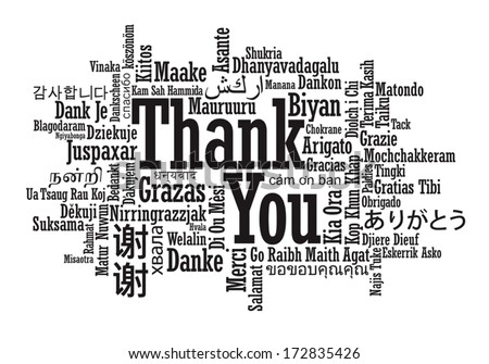 Thank You Word Cloud Vector Format Vector 172835426 – Thank You Card Template for Word