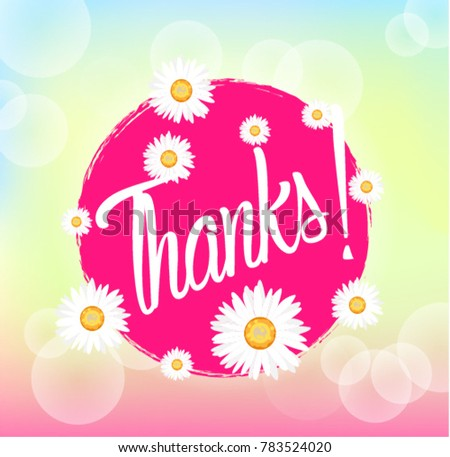 Thanks beautiful greeting card bunch flowers stock vector 2018 thanks beautiful greeting card with bunch flowers background m4hsunfo