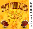 Thanks Giving Card - stock vector