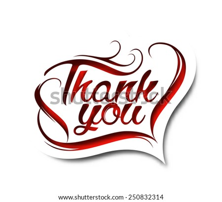 Thanks you text made of handwriting vector design element.  - stock vector