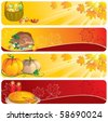 Thanksgiving banners - stock vector
