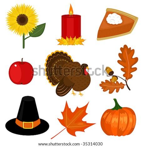 Thanksgiving day clip-art - stock vector