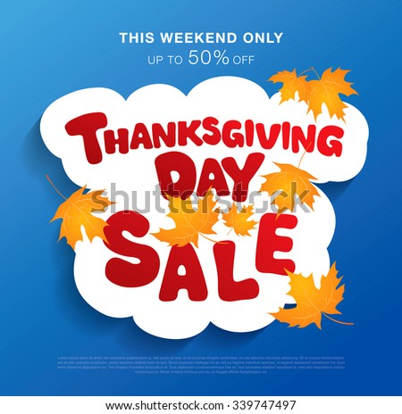 Thanksgiving day. Sale