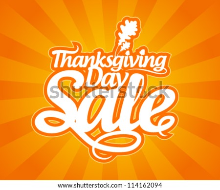 Thanksgiving Day sale design template. - stock vector