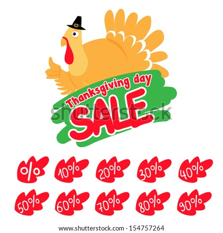 Thanksgiving Day sale design template