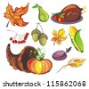 Thanksgiving design elements - stock vector