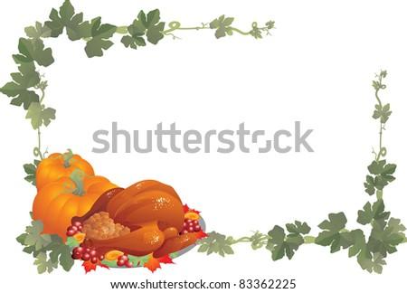 Thanksgiving Frame Stock Vector 83362225 - Shutterstock