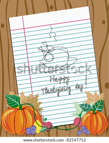 Thanksgiving theme with the space for your text. - stock vector