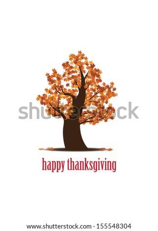 Thanksgiving Tree - stock vector