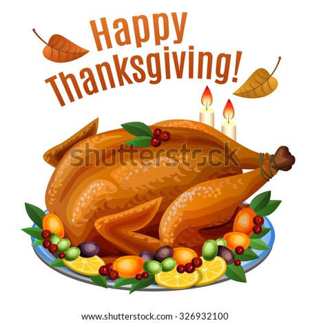 Thanksgiving turkey dinner drawing - photo#15