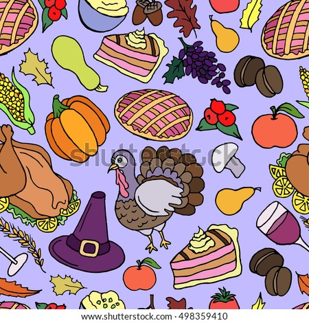 Thanksgiving Vector Seamless Pattern Holiday Texture Stock Vector HD