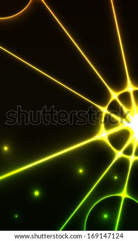 The abstract background made out of rays /the cosmic background / beam - stock vector