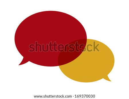 The abstract background made out of two overlapping bubbles / The pair of speech bubbles / Speech bubbles - stock vector