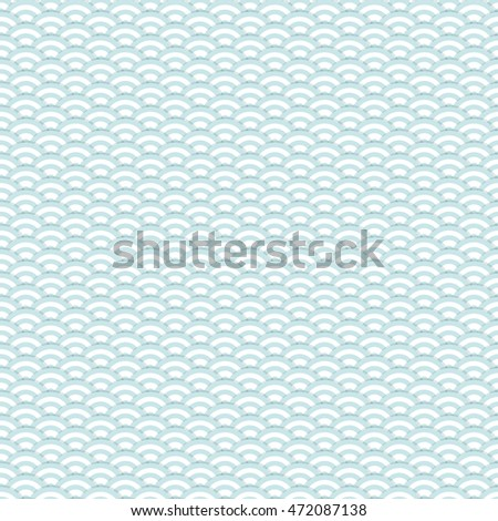 The abstract blue seamless pattern. Vector illustration.