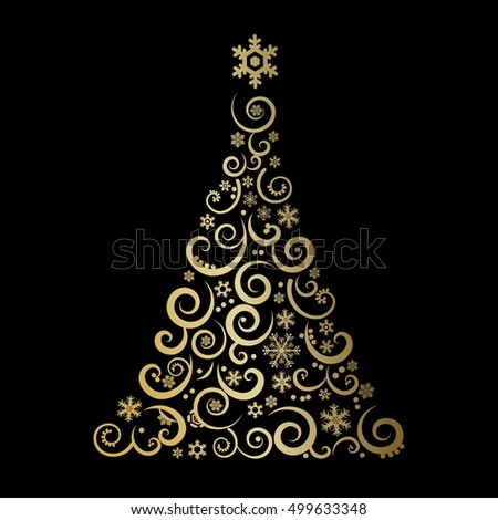 The Abstract Christmas Tree - vector illustration