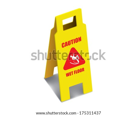 THE ABSTRACT OF CAUTION SIGN VECTOR