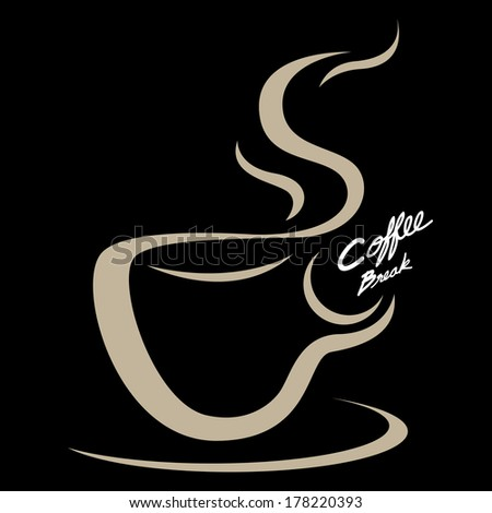 The abstract of Coffee cup emblem