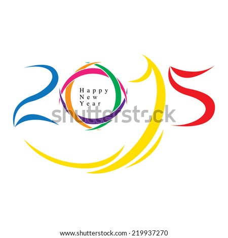 The abstract of Happy new year 2015 concept vector - stock vector