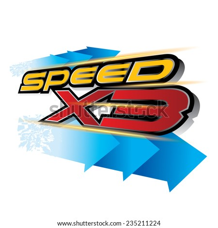The abstract of Speed X3 Concept vector - stock vector