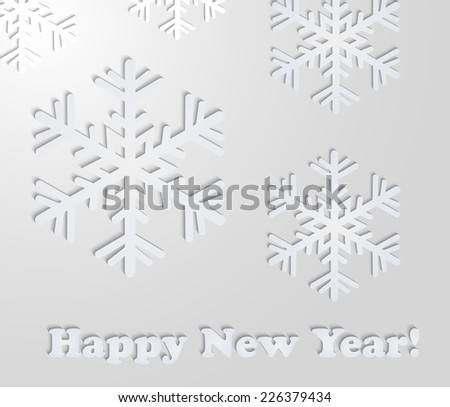 The abstract of the paper cutting. Christmas background. Abstract snowflakes