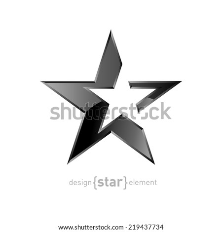The Abstract Silver star on white background. Company logo template, corporate identity - stock vector