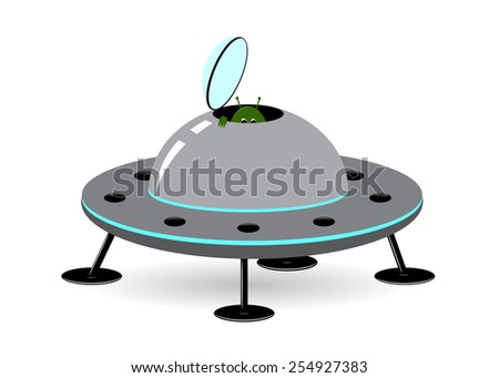 The alien by the spaceship
