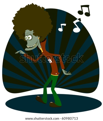 The amusing dancer - stock vector