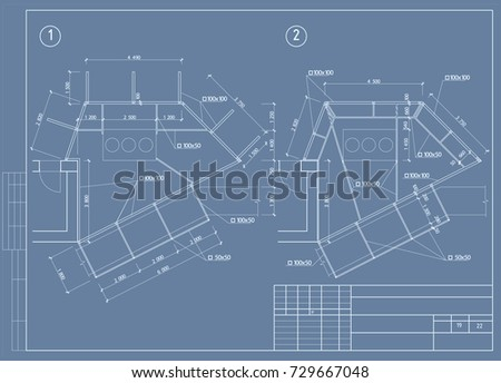 Authors architectural project country hotel blueprint stock vector the architectural design of the engineering equipment floor plan blueprint vector malvernweather Image collections