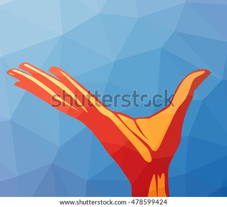 The arm on the polygonal background