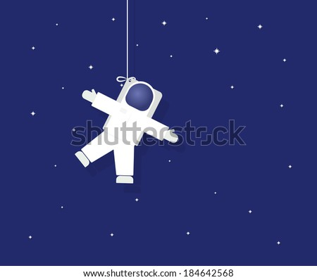 The astronaut in outer space - stock vector