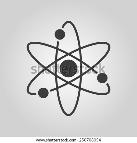 The atom icon. Atom symbol. Flat Vector illustration - stock vector