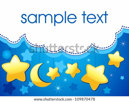 The background cloud - stock vector