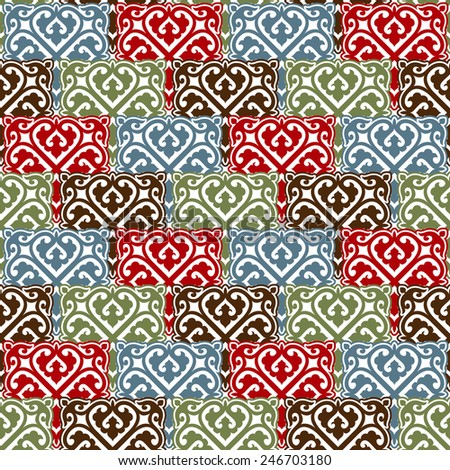 The background of beautiful vintage seamless pattern - stock vector