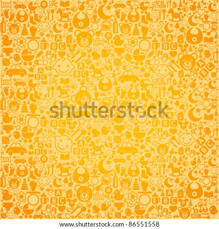 the background of the characters on the nursery theme - stock vector