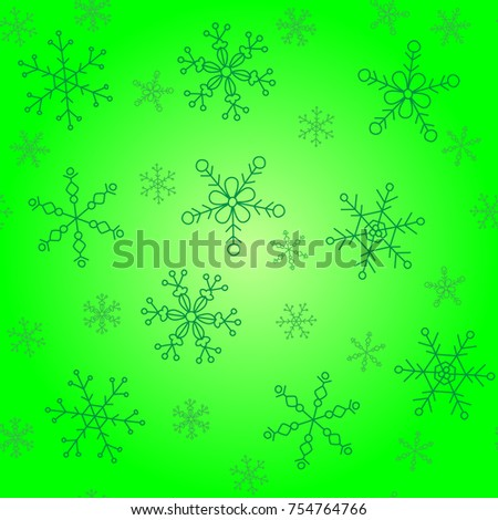 background pattern winter themes snowflakes five stock vector hd