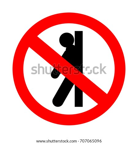 Badge Does Not Lean Against Door Stock Vector 707065096 ...