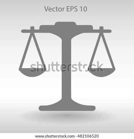 the balance in equilibrium vector illustration