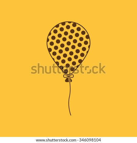 The balloon icon. Holiday symbol. Flat Vector illustration