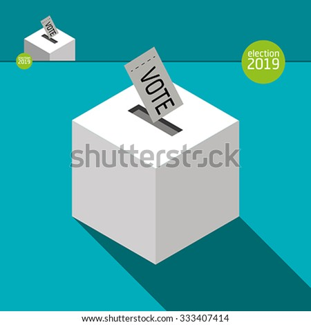 The ballot box  - stock vector