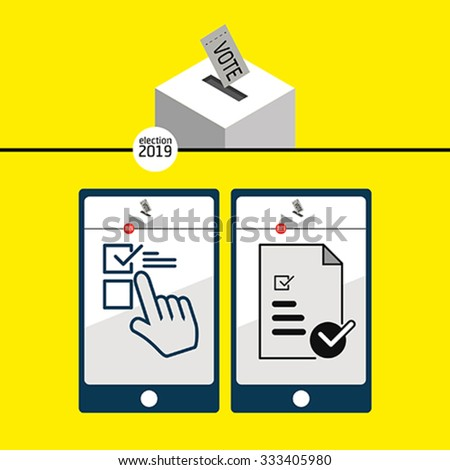 The ballot box - the phone selection screen - stock vector